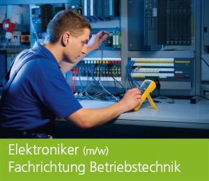 """<img class=""""alignnone wp-image-473 size-full"""" src=""""https://berufsstart.louisenthal.de/wp-content/uploads/2016/01/header_elektroniker.jpg"""" width=""""944"""" height=""""359"""" /> <h1><span style=""""color: #ffffff;""""><strong>Elektroniker</strong> (m/w), <strong>Fachrichtung Betriebstechnik</strong></span></h1>   [cols]  [col class=""""2/3""""]  <span style=""""color: #ffffff;""""><strong>Du suchst einen wirklich spannenden Beruf? Dann solltest du Elektroniker (m/w), Fachrichtung Betriebstechnik, werden. Du sorgst dafür, dass einem großen Unternehmen nicht die Kraft ausgeht, denn die Energieversorgung in allen Werksbereichen ist die Voraussetzung für jede Produktion.</strong></span>  <span style=""""color: #ffffff;"""">Im Unternehmen gibt es eine Vielzahl von Aufgabenfeldern und Einsatzbereichen für Energieelektronik, Energieversorgung, Steuerungs-, Regel- und Antriebstechnik sowie Beleuchtungs- und Meldetechnik. Theoretische Aufgaben, wie Planung und Dokumentation, wechseln sich ab mit einer Vielzahl von praktischen Herausforderungen, wie Messen, Prüfen und Reparieren. Du lernst die wesentlichen Grundlagen bei elektronischen Elementen und Baugruppen, Regeln der sauberen Installation sowie Test- und Fehlersuchmethoden.</span>  <span style=""""color: #ffffff;"""">Die Ausbildung dauert dreieinhalb Jahre und ist sehr anspruchsvoll. Schließlich musst du eine Menge lernen, von Fachbegriffen aus der Elektronik und Elektrotechnik bis hin zu praktischen Anwendungen, den Umgang mit Computern sowie vielen Sicherheitsmaßnahmen und -vorschriften. Dafür bietet dir der Beruf aber auch viel Spannung – im wahrsten Sinn des Wortes.</span> <h4><span style=""""color: #ffffff;"""">Dein Profil:</span></h4> <span style=""""color: #000000;""""><span style=""""color: #ffffff;"""">• schnelle Auffassungsgabe</span> <span style=""""color: #ffffff;""""> • solide mathematische Kenntnisse</span> <span style=""""color: #ffffff;""""> • Teamfähigkeit</span> <span style=""""color: #ffffff;""""> • Verantwortungs- und Sicherheitsbewusstsein</span> </span>    [/col]  [col class="""
