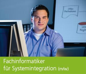 """<img class=""""alignnone wp-image-467 size-full"""" src=""""https://berufsstart.louisenthal.de/wp-content/uploads/2016/01/header_fachinformatiker.jpg"""" width=""""944"""" height=""""359"""" /> <h1><span style=""""color: #ffffff;""""><strong>Fachinformatiker für Systemintegration</strong> (m/w)</span></h1>   [cols]  [col class=""""2/3""""]  <span style=""""color: #ffffff;""""><strong>Wer unterstützt uns in Zukunft bei Systemzusammenstellung, Administration und Wartung? Eine Kleinigkeit für dich – wenn du bei uns eine Ausbildung als Fachinformatiker für Systemintegration (m/w) machst!</strong></span>  <span style=""""color: #ffffff;"""">Mit dieser Ausbildung schaffst du dir Basiswissen für innerbetriebliche Anwenderberatung, -einweisung und -schulung. Während der Ausbildung im IT-Bereich wirst du mit den betrieblichen Abläufen vertraut gemacht. Im Fachbereich wirst du an Konzipierung, Umsetzung und Weiterentwicklung individueller betrieblicher Lösungen mitgestalten und dabei, neben der schulischen Ausbildung, auch Datenverarbeitung, Programmierung und Netzwerktechnologien kennenlernen. Wenn dich das anspricht und du aufgeschlossen gegenüber Informations- und Telekommunikationstechnik bist, dann bist du bei uns genau richtig. Denn diese Ausbildung vermittelt dir beste Voraussetzungen für eine zukünftig verantwortungsvolle Position im IT-Bereich mit sehr guten Entwicklungsmöglichkeiten.</span> <h4><span style=""""color: #ffffff;"""">Dein Profil:</span></h4> <span style=""""color: #ffffff;"""">• Bereitschaft zu kunden- / anwenderorientierter Teamarbeit • logisches Denkvermögen und systematische Vorgehensweise • Kommunikationsfähigkeit • Interesse an Informationstechnologien sowie technischen Zusammenhängen</span>    [/col]  [col class=""""1/3 last""""] <h4><span style=""""color: #ffffff;"""">Ausbildungsdauer:</span></h4> <span style=""""color: #ffffff;"""">3,5 Jahre</span> <h4><span style=""""color: #ffffff;"""">Mindestvoraussetzung:</span></h4> <span style=""""color: #ffffff;"""">mittlere Reife</span> <h4><span style=""""color: #ffffff;"""">Standort:</span></h4> """