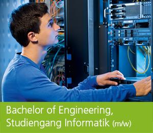 """<img class=""""alignnone wp-image-463 size-full"""" src=""""https://berufsstart.louisenthal.de/wp-content/uploads/2016/04/header_bachelor_engineering-1.jpg"""" width=""""944"""" height=""""359"""" /> <h1><span style=""""color: #ffffff;""""><strong>Bachelor of Arts, Studiengang Informatik</strong> (m/w)</span></h1>   [cols]  [col class=""""2/3""""]  <span style=""""color: #ffffff;""""><strong>Du strebst die Fachhochschulreife bzw. das Abitur an und interessierst dich für neue Technologien, Datensicherheit und Programmierung? Dann bist du als Bachelor of Engineering (m/w) im Studiengang Informatik / Informationstechnik bei uns genau richtig.</strong></span>  <span style=""""color: #ffffff;"""">Neben den Studieninhalten wie Computergrafik, Kommunikations- und Netztechnik, Software-Engineering, Netzmanagement, verteilte Systeme und mobile Informationssysteme lernst du ebenso Betriebswirtschaft sowie Kommunikation und Kundenorientierung kennen. Als ausgebildeter Ingenieur (m/w) entwickelst du neue Produkte nicht nur unter technischen Gesichtspunkten – du bist ebenso befähigt, neueste Technologien einzusetzen, Kundenwünsche exakt zu erfassen und zu dokumentieren sowie Produkte und Systeme zielgruppenorientiert zu präsentieren. Als Absolvent bist du in der Lage, Entwicklungsprojekte eigenverantwortlich zu führen. Zudem ist eine Spezialisierung in den Bereichen mobile Informatik oder Netz- und Softwaretechnik möglich.</span>  <span style=""""color: #ffffff;"""">In Kooperation mit der Dualen Hochschule Ravensburg wird das duale Studium durchgeführt. Alle drei Monate wechselst du dabei von den Praxisphasen an unserem Standort Louisenthal in die Theoriephasen an der Dualen Hochschule Ravensburg, Campus Friedrichshafen.</span>   <h4><span style=""""color: #ffffff;""""><strong>Dein Profil:</strong></span></h4> <span style=""""color: #ffffff;"""">• gutes mathematisch-naturwissenschaftliches Verständnis</span> <span style=""""color: #ffffff;"""">• logisch-analytische Denkfähigkeit</span> <span style=""""color: #ffffff;"""">• Freude am Umgang mit der EDV</sp"""